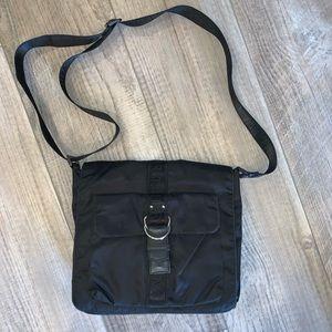 Lauren Ralph Lauren black Crossbody messenger bag